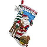 Bucilla Nordic Santa Felt Applique Stocking Kit, 86647 18-Inch