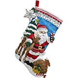 Arts & Crafts : Bucilla 18-Inch Christmas Stocking Felt Applique Kit, 86647 Nordic Santa