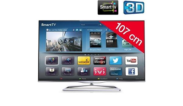 PHILIPS Televisor LED 3D 42PFL5008H/12: Amazon.es: Electrónica