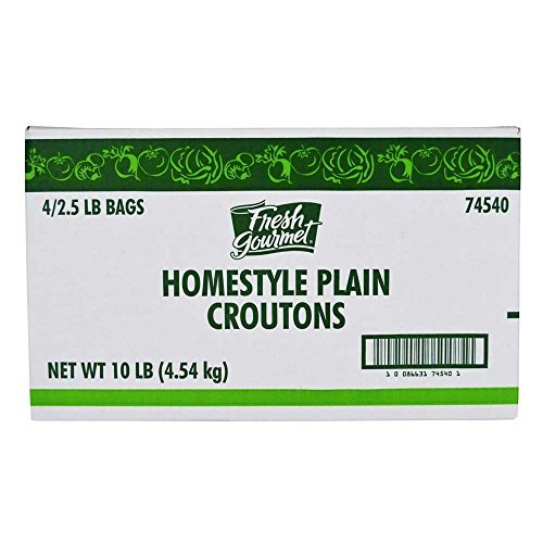 Fresh Gourmet Homestyle Plain Premium Crouton, 2.5 Pound -- 4 per case. by Sugar Foods (2.5 Lb Case)