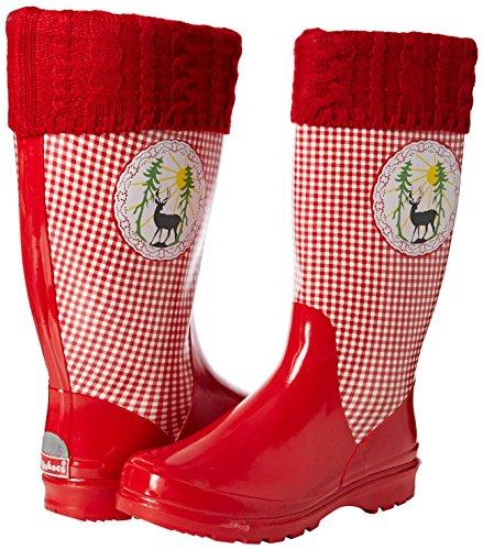 Landhaus Donna Trendiger rot 8 Stivaletti Playshoes Rojo Damen Gummistiefel wtq14x