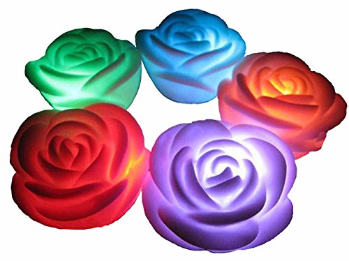 Led Color Changing Rose Shaped Light - 9