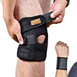 FANZ Knee Brace Support Sleeve For Running,Biking,Basketball,Arthritis,Jumpers Knee Meniscus Tear,Sports,Exercise,ACL,Tendonitis Pain, Open Patella Stabilizer With Adjustable Size, Single, Breathable