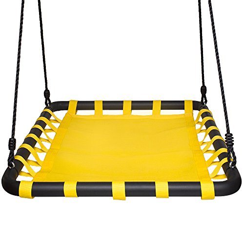 Swinging Monkey Products Giant Mat Platform Swing, Yellow