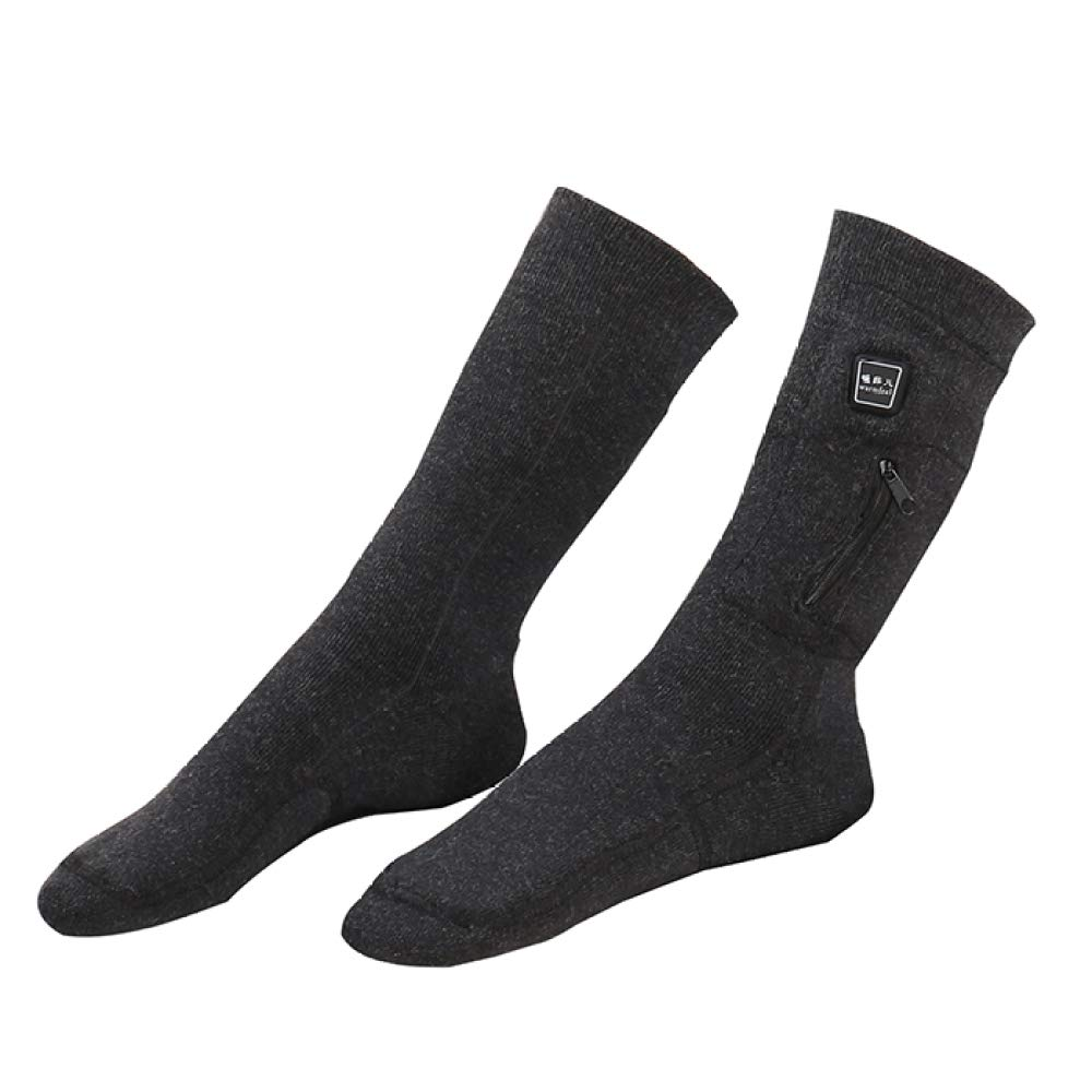 Electric Heated Socks/Thermo Socks,Foot Warmer - for Winter Camping Hiking Work and Ski Unisex,M DZX