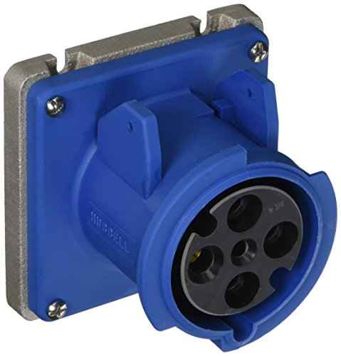 Hubbell A460R9 Pin and Sleeve Products, IEC, Receptacle, 3 Pole, 4 Wire, 60 amp, 250V, Low Profile, Blue by Hubbell
