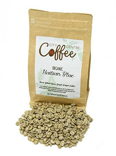City Centre Coffee-Organic Haitian Blue-Whole Bean Green 16oz