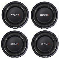 4) MB Quart DS1-204 400 Watt 8 Inch Shallow Slim Subs DVC Car Subwoofers Four