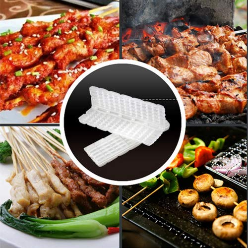 4PCS BBQ Meat String Device Barbecue Meat Skewer Maker Machine, Quick Portable Meat Skewer Box, Kebab Grill Shashlik Maker, BBQ Utensils Tool Accessory