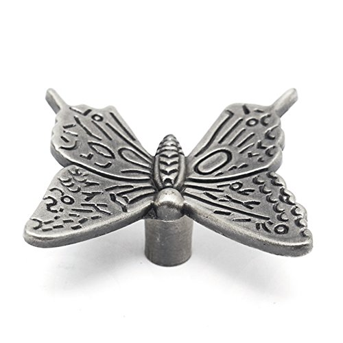 10 Pcs Butterfly Alloy Cabinet Knobs, 43mm Butterfly Shape Drawer Kitchen Cabinets Dresser Cupboard Wardrobe Pulls Handles (as Shown) by cyclamen9 (Image #1)