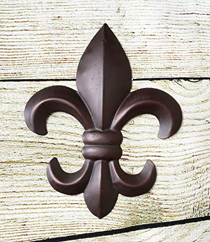 DealsJungle X-small Fleur De Lis Wall Plaque For Home and Garden Decoration - Vintage Wedding Anniversary Girl Engagement Birthday Christmas