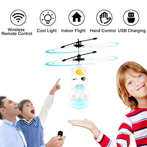 Flying Toys-RC Helicopter Toy, Remote Control Helicopter for Kids Indoor Flying Ball Hand Control Helicopter for Kids Rechargeable Mini Helicopter for Boys and Girls