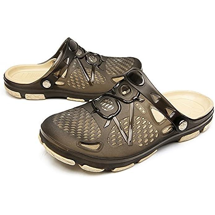 techcity Unisex Garden Clogs Outdoor Walking Sandals Breathable Sport Slides Summer Non Slip Pool Beach Shower Slippers Shoes