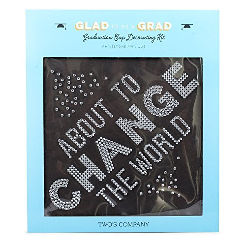 About to Change the World Rhinestone Adhesive Applique Graduation Cap Decorating Kit