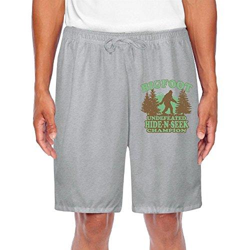 MissMr UFO Bigfoot Shorts For Men Cargo Casual Classic Fit Short Ash (Ufo Cargo Suit)