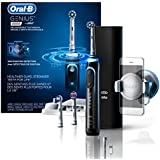 Oral-B Genius Pro 8000 Electronic Power Rechargeable Battery Electric Toothbrush with Bluetooth Connectivity Powered by Braun, Black