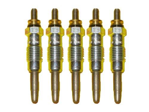 5 Piece Bosch OEM Glow Plug Set # 0250201055 / 80031 - Mercedes Benz / MB # 0011593601