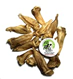 12-Pack Lamb Ears for Dogs - Made in USA Hickory-Smoked Natural-Looking No Growth Hormones, Additives or Harmful Chemicals Naturally Grain-Free and Rawhide-Free by Sancho & Lola's
