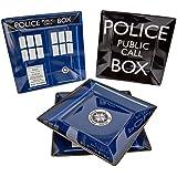 Doctor Who TARDIS Plate Set - Dishwasher and Oven Safe - Durable Melamine