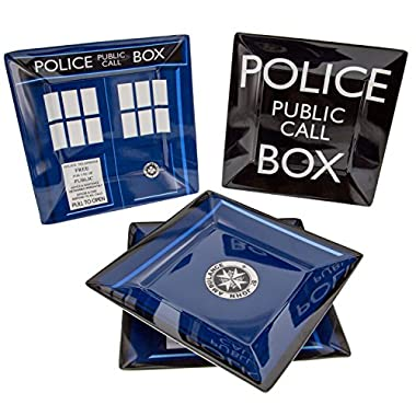Doctor Who TARDIS Plate Set - Dishwasher and Oven Safe - Durable Melamine
