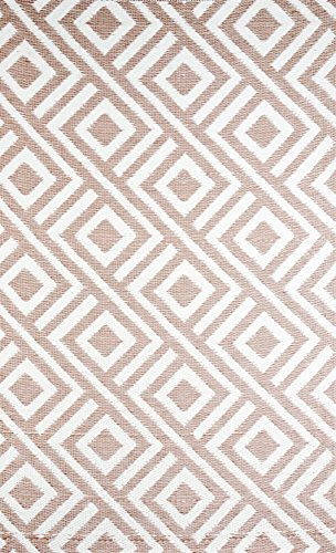 b.b.begonia Outdoor Rug Patio Mat - (5ft x 8ft) - Malibu, Reversible Design in Beige and White as Outdoor Area Rug
