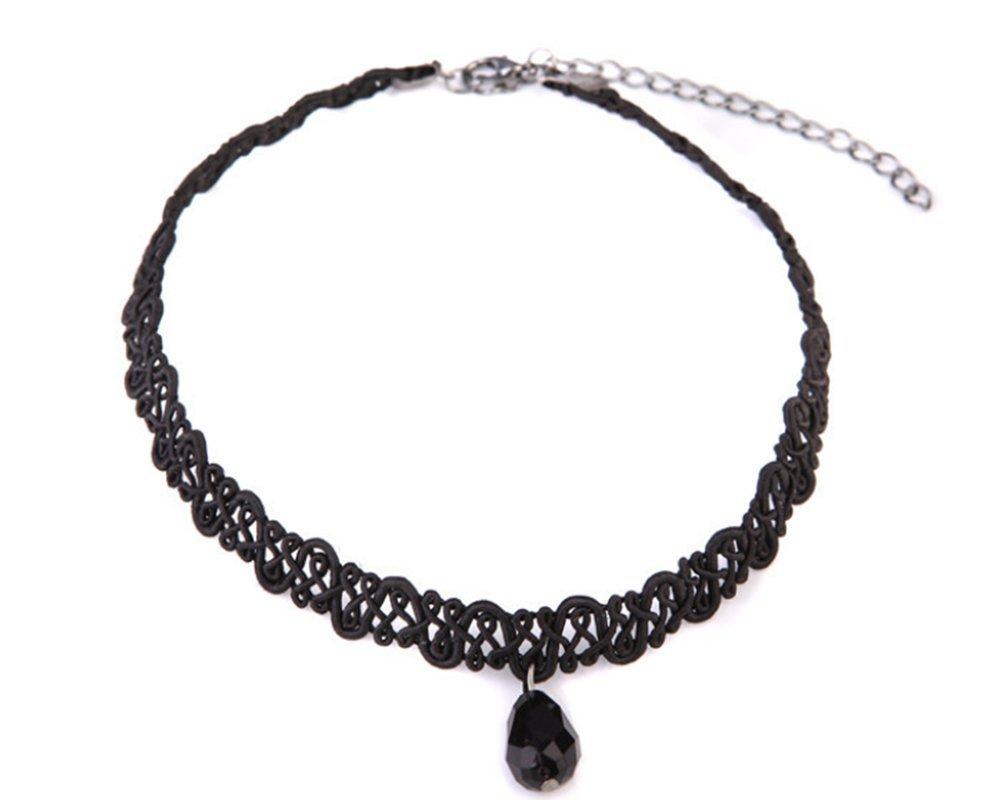 Hosaire Choker for Women Girls, Black Classic Pearl Pendant Short Necklace-BEST DECORATION for Summer Dress