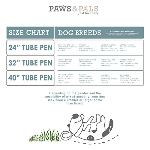 Paws & Pals Pet Exercise Pen Tube Gate w/ Door - (8 Panel Playpen) Heavy Duty Folding Metal Out-Door Fence - 32'' Playpen by Paws & Pals (Image #6)