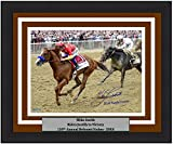 #4: Horse Racing Mike Smith Riding Justify Autographed 2018 Belmont Stakes 8x10 Framed and Matted Photo with 2018 Triple Crown Inscription