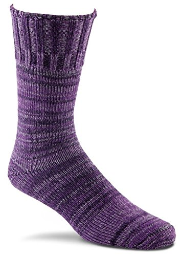 Fox River New American Merino Ragg Wool Crew Socks, Purple, Large (New Purple Fox)