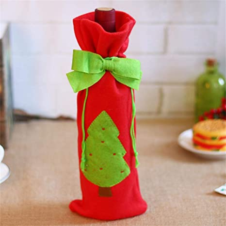 Christmas Wine Bottle Cover, Santa Reindeer Snowman Christmas Wine Bottle Cover Ornament Clothes Set Table Decor (3PCS): Amazon.com: Grocery & Gourmet Food