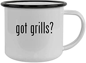 got grills? - Sturdy 12oz Stainless Steel Camping Mug, Black
