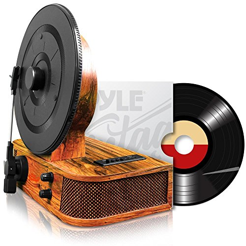 Pyle Turntable Bluetooth Dual Built In Stereo Speakers 3