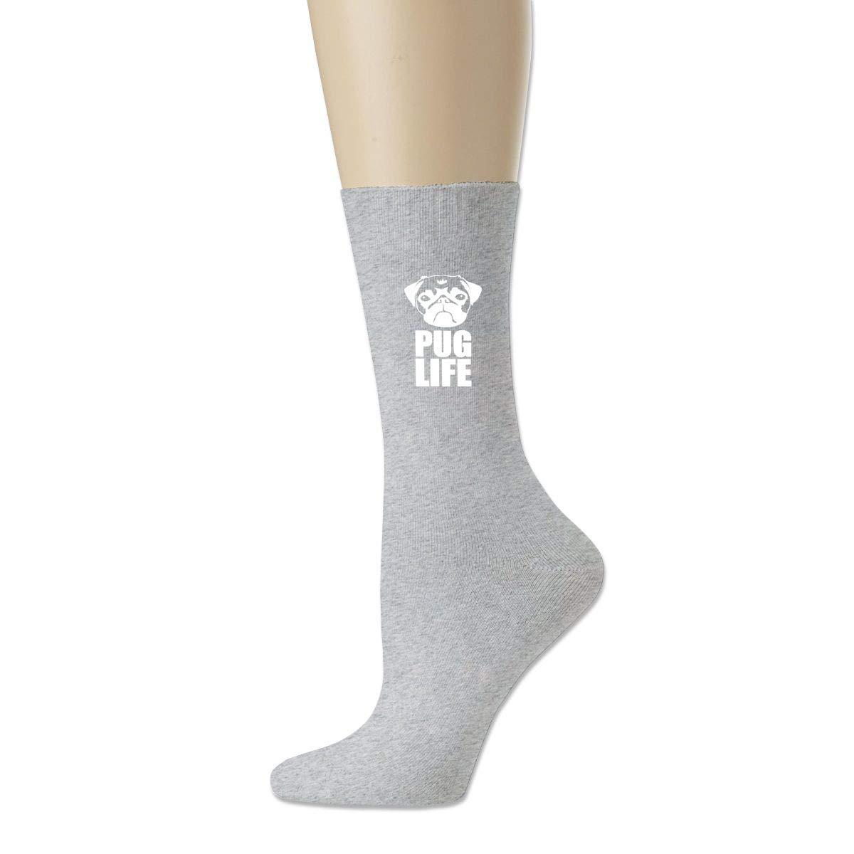 Cotton Crew Bobbysox Ski Socks Unisex Soccer Socks Pug Life Dog