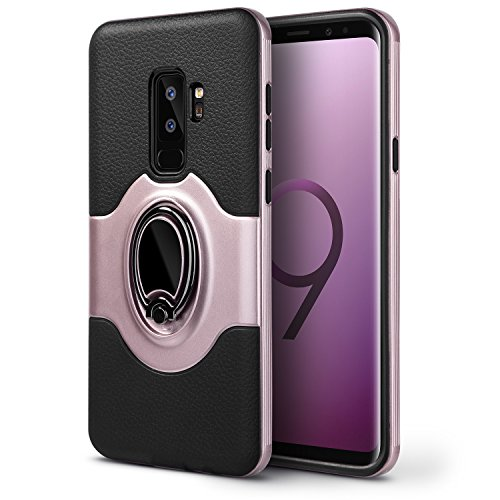 S9+ Plus Case, Galaxy S9 Plus Case, Dairnim [Shockproof Anti-Scratch] with Ring Kickstand Support Magnetic Car Mount Holder Dual Layer Bumper Protection Case for Samsung Galaxy S9 Plus 6.2