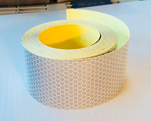 Nikkalite Flexible (Stretchable) High Intensity Retro Reflective Tape Rolls for Bollards, Hard Hats, Helmets and More (2