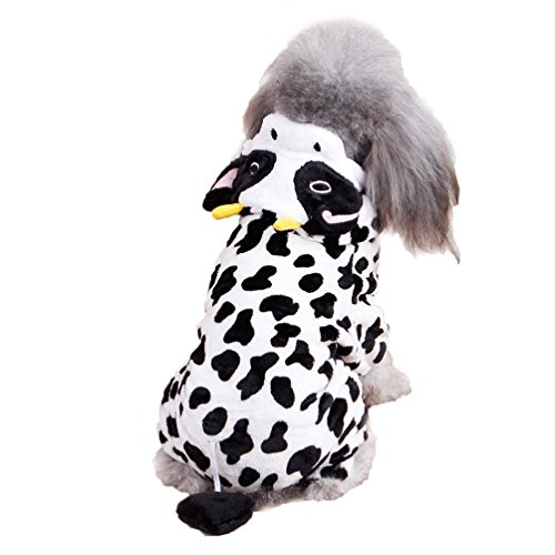DEESEE(TM) Cute Pet Dog Cat Clothes Funny Puppy Dairy Cow Costume Hoodie Dress (Big Daddy Purple Pet Costumes)
