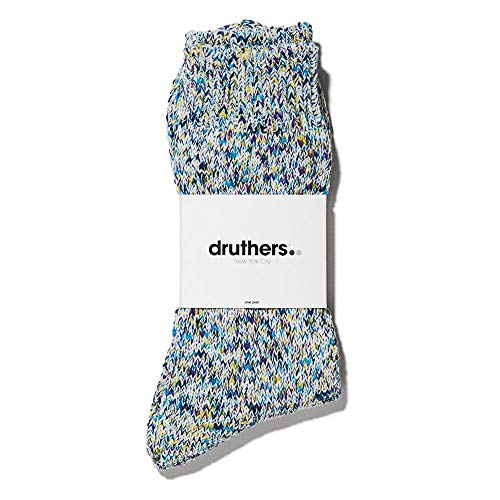 (DRUTHERS Multi Colored Speckled Yarn Fleck Socks for Men or Women Durable Organic Cotton - Made in Japan - 2 Pack Available.)