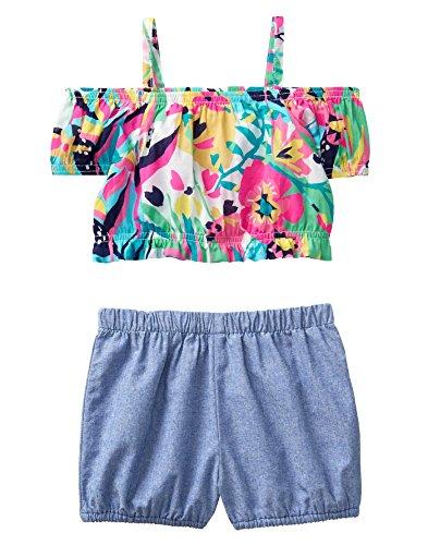 Crazy 8 Girls Toddler Sleeveless Playwear Set