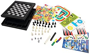 [18 in 1][2-4 palyer] Magnetic Game Chess/Checkers/Backgammon/Chinese Checkers/Nine Men's Morris Game/Snakes&Ladders Game/Ludo Game/Goose Game/Motor Racing/Train Chess/Racing Game/Steeplechase Game