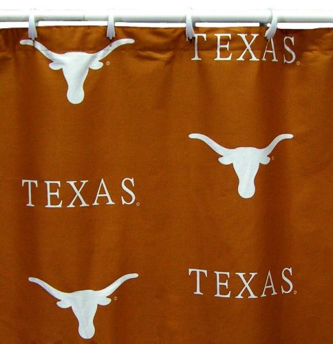 College Covers Shower Curtain Cover, 70'' x 72'', Texas Longhorns by College Covers