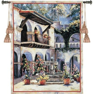 Placita de las Flores Tapestry (Pure Country Weavers Floral Tapestry)
