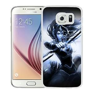 Fashionable Samsung Galaxy S6 Case ,Unique And Popular Designed Case With mirana art dota 2 White Samsung Galaxy S6 Great Quality Screen Case
