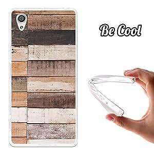 BeCool® - Funda Gel Flexible Sony Xperia X Performance Natural Wood Carcasa Case Silicona TPU Suave