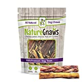 Nature Gnaws 5-6 inch Bully Sticks Combo Pack – (3) Braided & (3) Large Bully Sticks – Grass Fed Beef Dog Chews Review