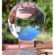 """Clear Crystal Ball with Stand, MerryNine 3-1/5"""" /80mm Art Decor K9 Crystal Prop for Photography Decoration"""