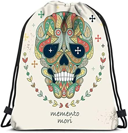 Backpack Sports Gym Bag Decorative Skull Ornamental and The ...
