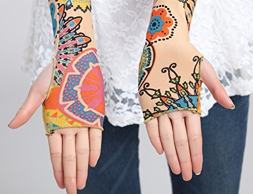 Unisex Scales Fish Sense Ice Outdoor Travel Arm Warmer Long Sleeves Glove by Suining (Image #2)