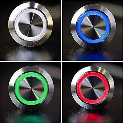 Montage encastr/é 12.00V Sonnette de porte Metzler-Trade/® RAL7016 Gravure du nom incluse En acier inoxydable pulv/éris/é Anthracite Avec bouton de sonnette LED