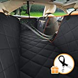 SUKI&SAMI Dog Seat Cover with Mesh Window Car Seat Cover with Hammock for Back Seat of Cars/Trucks/SUVs, Waterproof & Scratch Proof & Nonslip Backing & Machine Washable Review