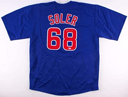 best website f7f12 76cd7 Jorge Soler Autographed Signed Chicago Cubs Jersey (Size XL ...